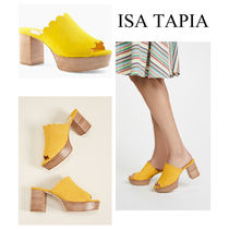 Isa Tapia Casual Style Plain Platform & Wedge Sandals