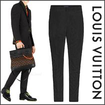Louis Vuitton Wool Blended Fabrics Street Style Plain Pants