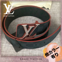 Louis Vuitton DAMIER GRAPHITE Leather Belts