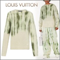 Louis Vuitton Crew Neck Pullovers Wool Blended Fabrics Street Style