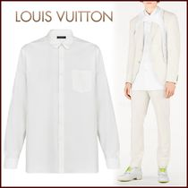 Louis Vuitton Button-down Silk Street Style Long Sleeves Plain Shirts
