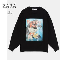 ZARA Casual Style Unisex Street Style Collaboration Long Sleeves