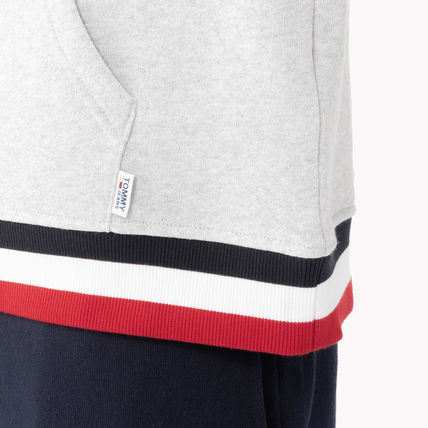 e0912b34dce8a ... Tommy Hilfiger Cropped Short Unisex Street Style Long Sleeves Plain Cotton  6 ...