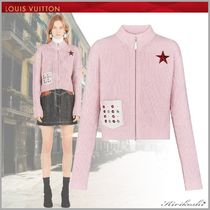 Louis Vuitton Short Star Wool Blended Fabrics Street Style Plain Jackets