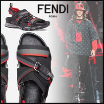 FENDI Blended Fabrics Street Style Leather Sport Sandals