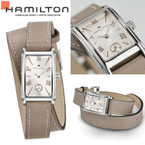 Hamilton Square Quartz Watches Stainless Elegant Style Analog Watches