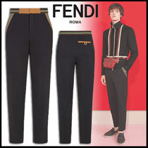 FENDI Slax Pants Stripes Other Check Patterns Cotton Slacks Pants