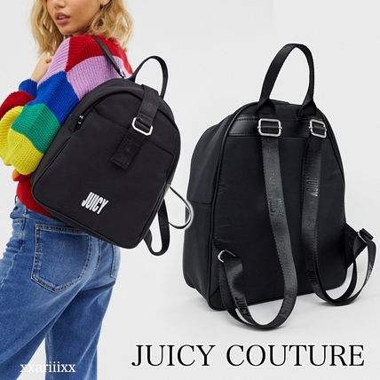 Casual Style Unisex Faux Fur Street Style Plain Backpacks