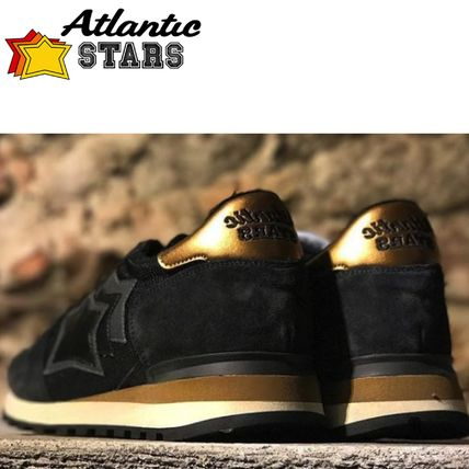 Star Suede Street Style Leather Handmade Logo Sneakers