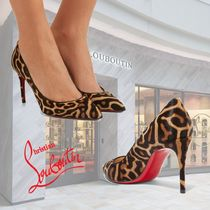 Christian Louboutin Pigalle Follies Leopard Patterns Fur Pin Heels Elegant Style