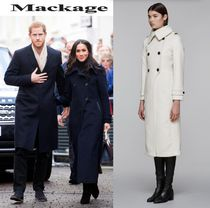Mackage Wool Plain Long Wrap Coats