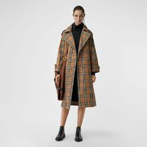 Burberry Tartan Long Trench Coats