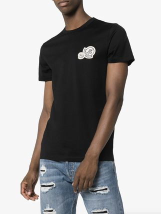 MONCLER More T-Shirts Unisex Street Style Plain Cotton Logo T-Shirts 4