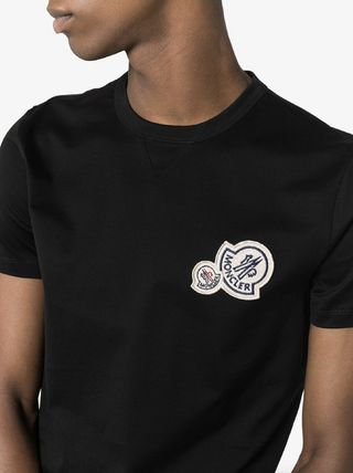 MONCLER More T-Shirts Unisex Street Style Plain Cotton Logo T-Shirts 6
