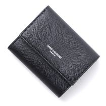 Saint Laurent Leather Folding Wallets