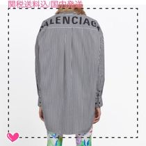 BALENCIAGA Stripes Cotton Shirts & Blouses