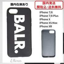 BALR Unisex Street Style Plain Smart Phone Cases