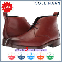 Cole Haan Plain Leather Chukkas Boots