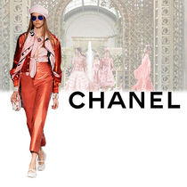 CHANEL Short Plain Leather Biker Jackets