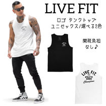 Live Fit Stripes Street Style Cotton Tanks