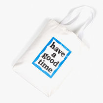 have a good time Casual Style Unisex Street Style Plain Logo Totes