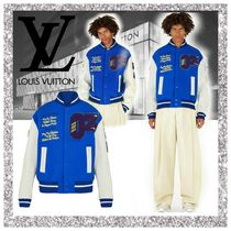 Louis Vuitton Short Bi-color Leather Varsity Jackets