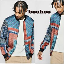 boohoo Flower Patterns Street Style Souvenir Jackets