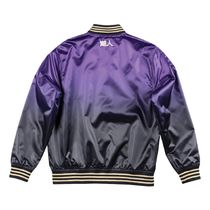 Mitchell&Ness Short Street Style Collaboration Logo Varsity Jackets
