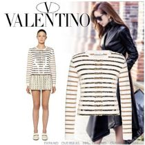 VALENTINO Stripes Cashmere Long Sleeves Cashmere