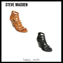 Steve Madden Plain Leather Elegant Style Sandals