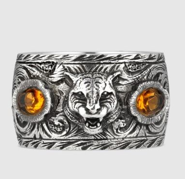 2b9f3409f78 GUCCI 2018-19AW Other Animal Patterns Silver Rings by ...