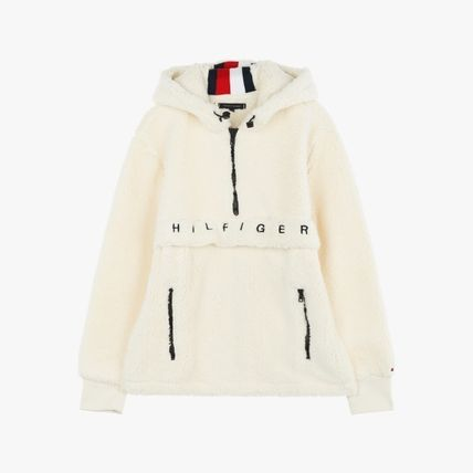 Tommy Hilfiger Hoodies Street Style Plain Oversized Hoodies