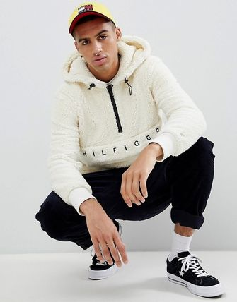 Tommy Hilfiger Hoodies Street Style Plain Oversized Hoodies 3