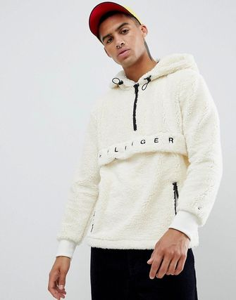 Tommy Hilfiger Hoodies Street Style Plain Oversized Hoodies 4