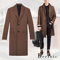 Berluti Wool Plain Chester Coats