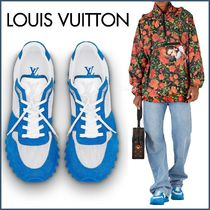Louis Vuitton MONOGRAM Unisex Blended Fabrics Street Style Bi-color Plain Sneakers