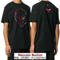 Marcelo Burlon Street Style U-Neck Cotton Short Sleeves T-Shirts
