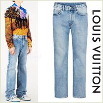 Louis Vuitton Blended Fabrics Street Style Plain Cotton Jeans & Denim