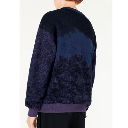 Louis Vuitton Knits & Sweaters Crew Neck Pullovers Wool Blended Fabrics Street Style 4