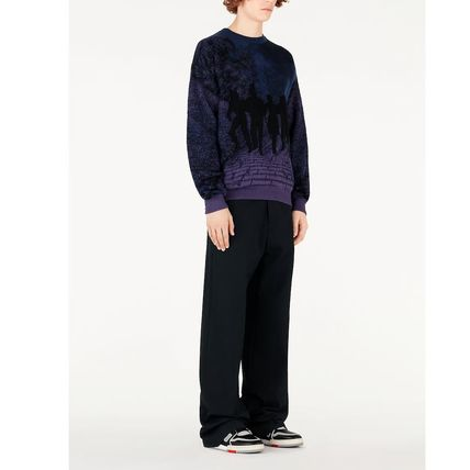 Louis Vuitton Knits & Sweaters Crew Neck Pullovers Wool Blended Fabrics Street Style 5