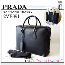 PRADA SAFFIANO LUX Saffiano A4 2WAY Plain Business & Briefcases