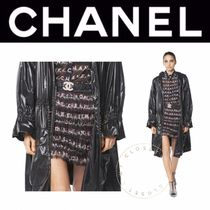 CHANEL ICON Flared Skirts Short Casual Style Silk Blended Fabrics