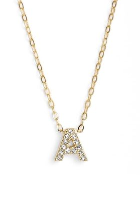 Casual Style Initial Chain 18K Gold Necklaces & Pendants