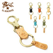 IL BISONTE Plain Leather Keychains & Holders