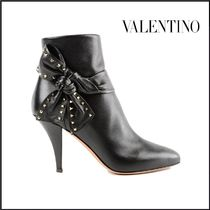VALENTINO Plain Leather High Heel Boots