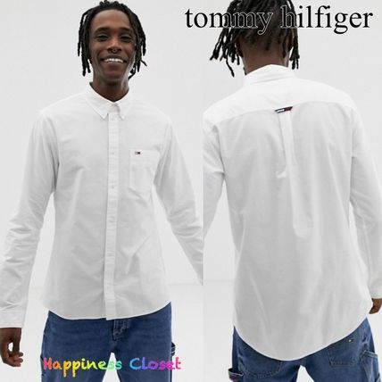 d81bff60e ... Tommy Hilfiger Shirts Button-down Street Style Long Sleeves Plain  Cotton Shirts ...
