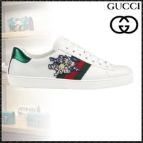 GUCCI Ace Collaboration Other Animal Patterns Leather Sneakers