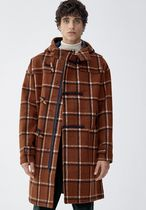 PULL & BEAR Other Check Patterns Street Style Duffle Coats