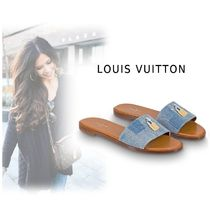 Louis Vuitton Plain Elegant Style Mules Sandals Sandal