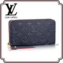 Louis Vuitton MONOGRAM EMPREINTE Monogram Unisex Street Style Leather Long Wallets
